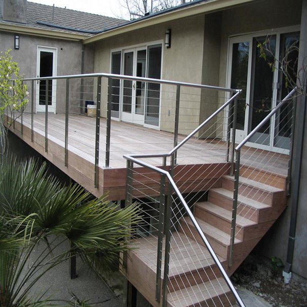 stainless steel cable railing for External balcony and stair