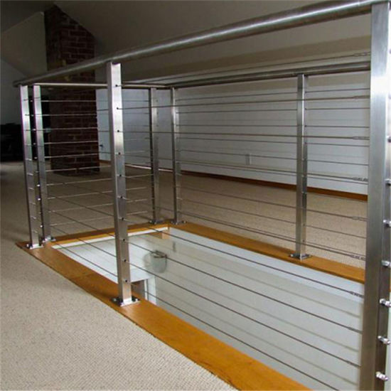 China Vertical Wire Balustrade Balcony Fence with Cable ...