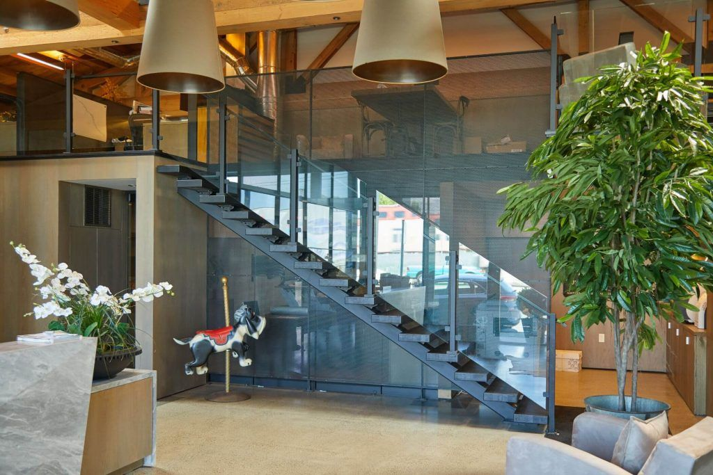 Glass Staircase Railing Designs Modern For Narrow Spaces