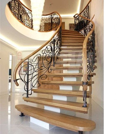 Curved Staircase Railing Design