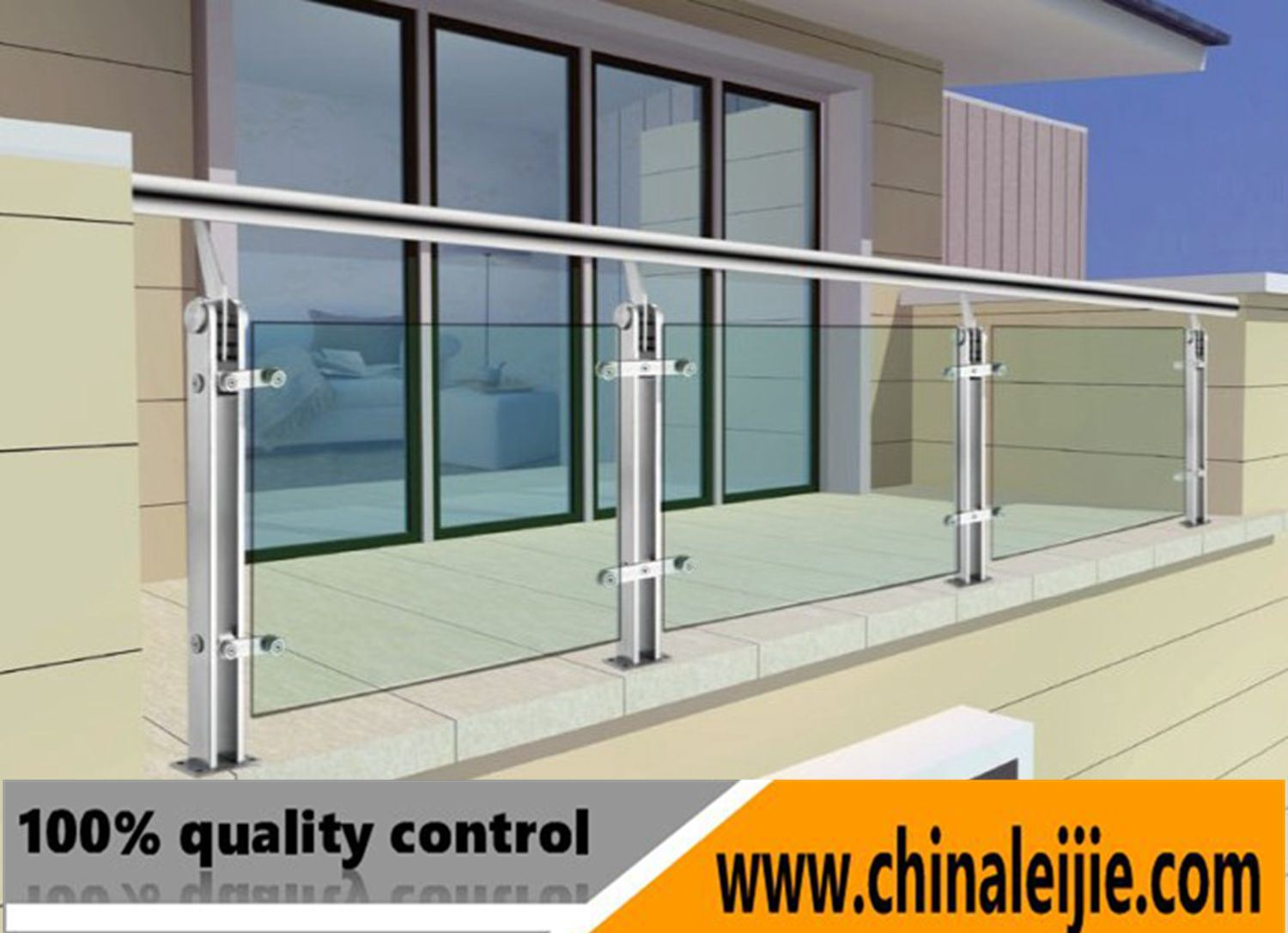 China Durable Stainless Steel Balcony Railing Design with ...