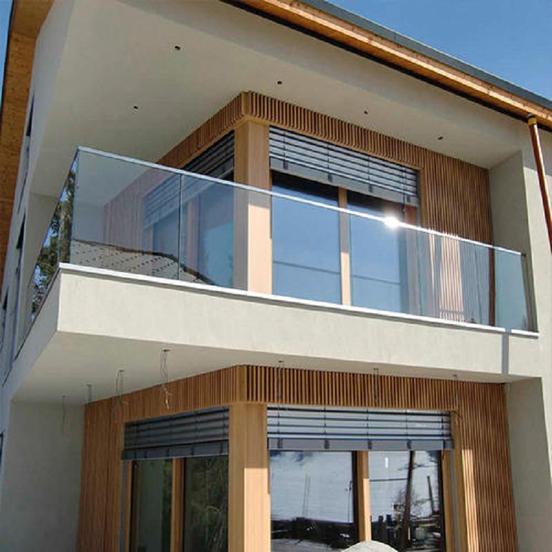 Stainless Steel Balcony Railing Design With Glass
