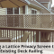 Covering Up My Gross Balcony Railing With Lattice